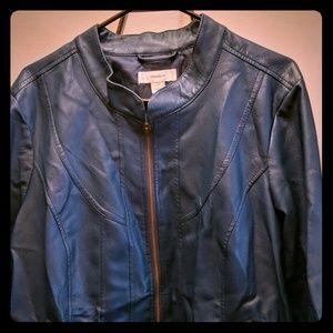 CJ Banks imitation leather jacket